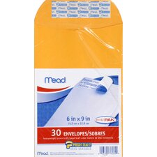 "6"" x 9"" Kraft Press-it-Seal Envelope (30 Count)"