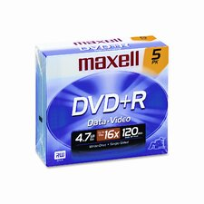 Dvd+R Discs, 4.7Gb, 16X, 5/Pack