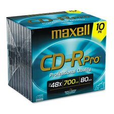 CD-R Discs, 700MB/80min, 40x, with Jewel Cases, Gold, 10/Pack