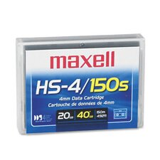 "1/8"" DDS-4 Data Cartridge, 150m, 20GB Native/40GB Compressed Data Capacity"