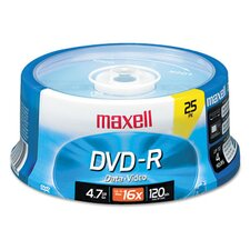 Spindle Dvd-R Discs, 4.7Gb, 16X, 25/Pack
