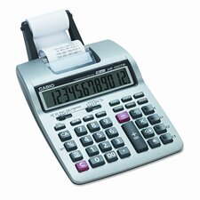 Portable Printing Calculator, 12-Digit Lcd
