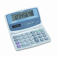 Handheld Foldable Pocket Calculator, 8-Digit Lcd