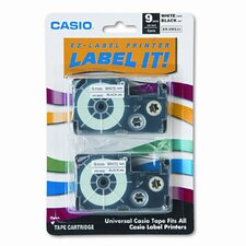 9WE2S Tape Cassettes for Kl Label Makers, 9Mm X 26Ft, 2/Pack
