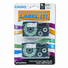 9X2S Tape Cassettes for Kl Label Makers, 9Mm X 26Ft, 2/Pack
