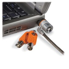 <strong>Kensington</strong> Microsaver Keyed Ultra Laptop Lock, 6 Ft. Steel Cable, Two Keys