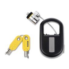 Notebook Lock, Retractable, 4' Steel Cable, Black
