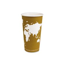 World Art Renewable Resource Compostable Hot Drink Cups, 20 Oz, 1000/Carton