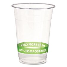 Greenstripe Renewable Resource Compostable Cold Drink Cups, 16 Oz, 1000/Carton
