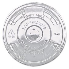 <strong>Eco-Products, Inc</strong> Compostable Cold Drink Cup Lids, Flat, 1000/Carton