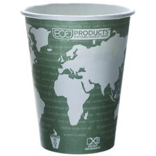 World Art Renewable Resource Compostable Hot Cup in Green