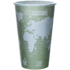 World Art Renewable Resource Compostable Hot Cup in Sea Green