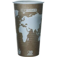 World Art Renewable Resource Compostable Hot Drink Cup in Tan