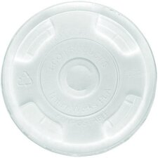 Compostable Cold Drink Cup Flat Lids in Clear