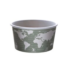 World Art PLA-Lined Soup Containers in Gray / White