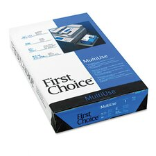 First Choice MultiUse Copy/Laser Paper, 98 Brightness, 24lb, Legal, Ream