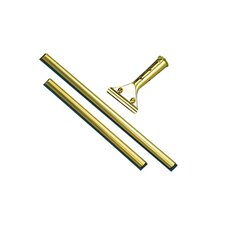 Golden Clip Brass Channel with Black Rubber Blade and Clip