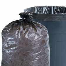 Total Recycled Plastic Trash Garbage Bags, 33 Gal, 1.3Mil, 33X40, 100/Carton
