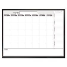 Dudes Premium Magnetic Dry Erase Monthly 3' x 4' Whiteboard