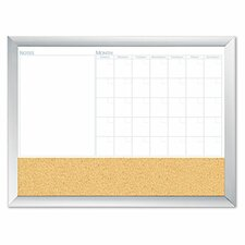 Magnetic Dry Erase 3-N-1 2' x 3' Whiteboard and Bulletin Board