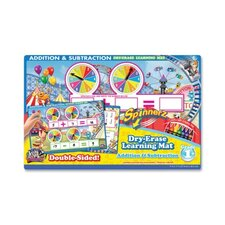 Addition/Subtraction Spinner Mat, Add/Subtract, Assorted