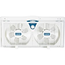 "8"" Electronically Reversible Twin Window Fan"