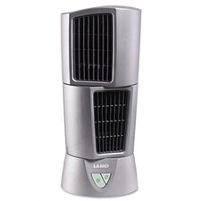 "6"" Three-Speed Platinum Desktop Wind Tower Fan, Platinum"