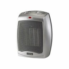 1500 Watt Ceramic Compact Space Heater with Adjustable Thermostat