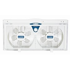 "Lasko 8"" Electrically Reversible Twin Window Fan"
