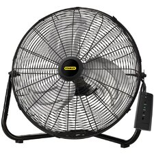 "Stanley Max Performance 20"" High Velocity Floor or Wall Mount Fan with Remote Control"
