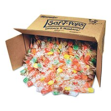 Saf-T-Pops, Assorted Flavors, Individually Wrapped, Bulk 25Lb Box
