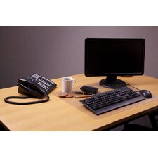 <strong>Floortex</strong> Desktex Polycarbonate Smooth Back Rectangular Desk Mats (Pack of 30)