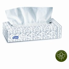 Tork Advanced Extra Soft, 2-Ply Facial Tissue, 100/Box, 30 Boxes/Carton