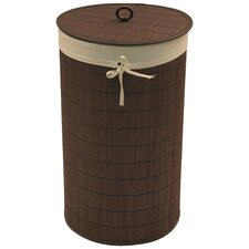 Round Bamboo Hamper with Liner