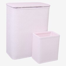 <strong>Redmon</strong> Chelsea Hamper and Matching Wastebasket Set