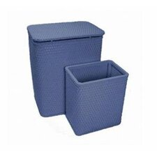 Chelsea Wicker Nursery Hamper and Matching Wastebasket