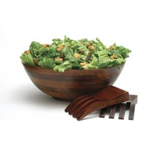 Cherry Footed Salad Bowl