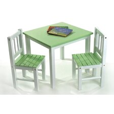 <strong>Lipper International</strong> Kids' 3 Piece Table and Chair Set