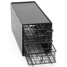 24 Pod Double Drawer Stand