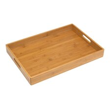 Solid Bamboo Rectangular Serving Tray