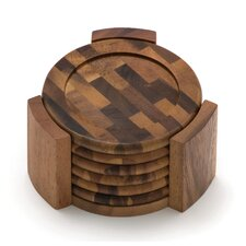Acacia End Grain Coasters (Set of 7)