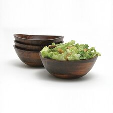 <strong>Lipper International</strong> Cherry 4-Piece Wavy Rim Bowl Set