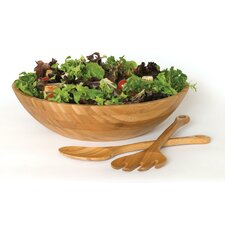 Bamboo Salad Bowl 3 Piece Set