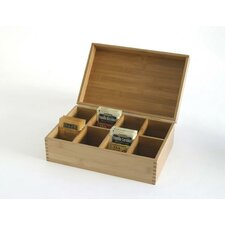 <strong>Lipper International</strong> Bamboo 8-Compartment Tea Box