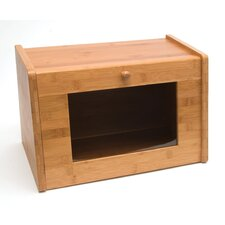 Bamboo Bread Box with Window Door