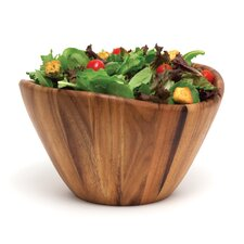 "<strong>Lipper International</strong> Acacia Serveware 12"" Wave Bowl"