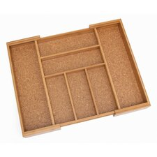 <strong>Lipper International</strong> Bamboo and Cork Expandable Flatware Organizer