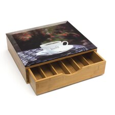 Coffee Pod Drawer with Decorative Glass Top
