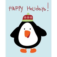 Penguin Christmas Graphic Art