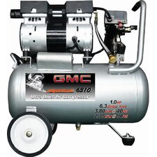 <strong>GMC Power Equipment</strong> 6.3 Gallon GMC SYCLONE 6310 Ultra Quiet and Oil-Free Air Compressor